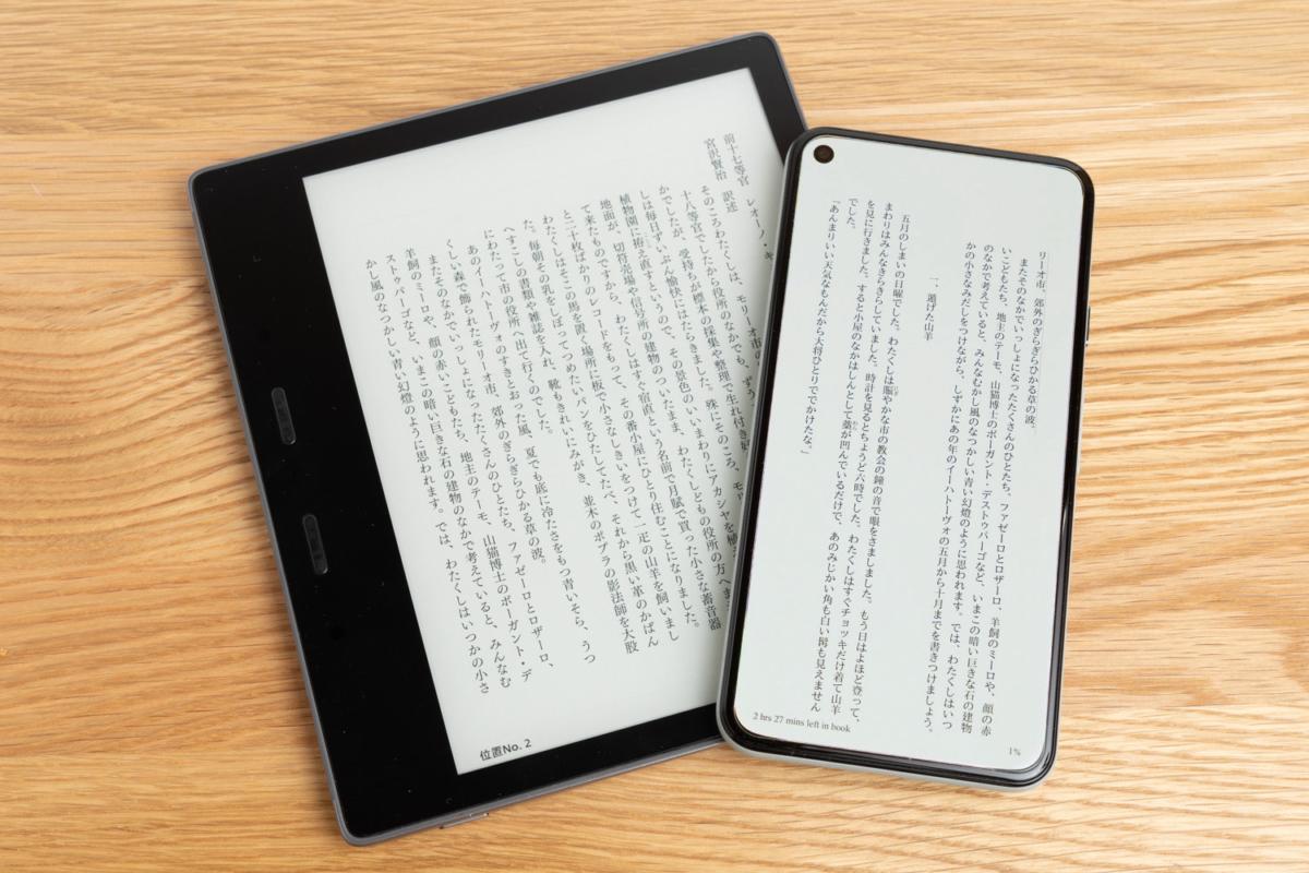 電子書籍リーダーとスマートフォン
