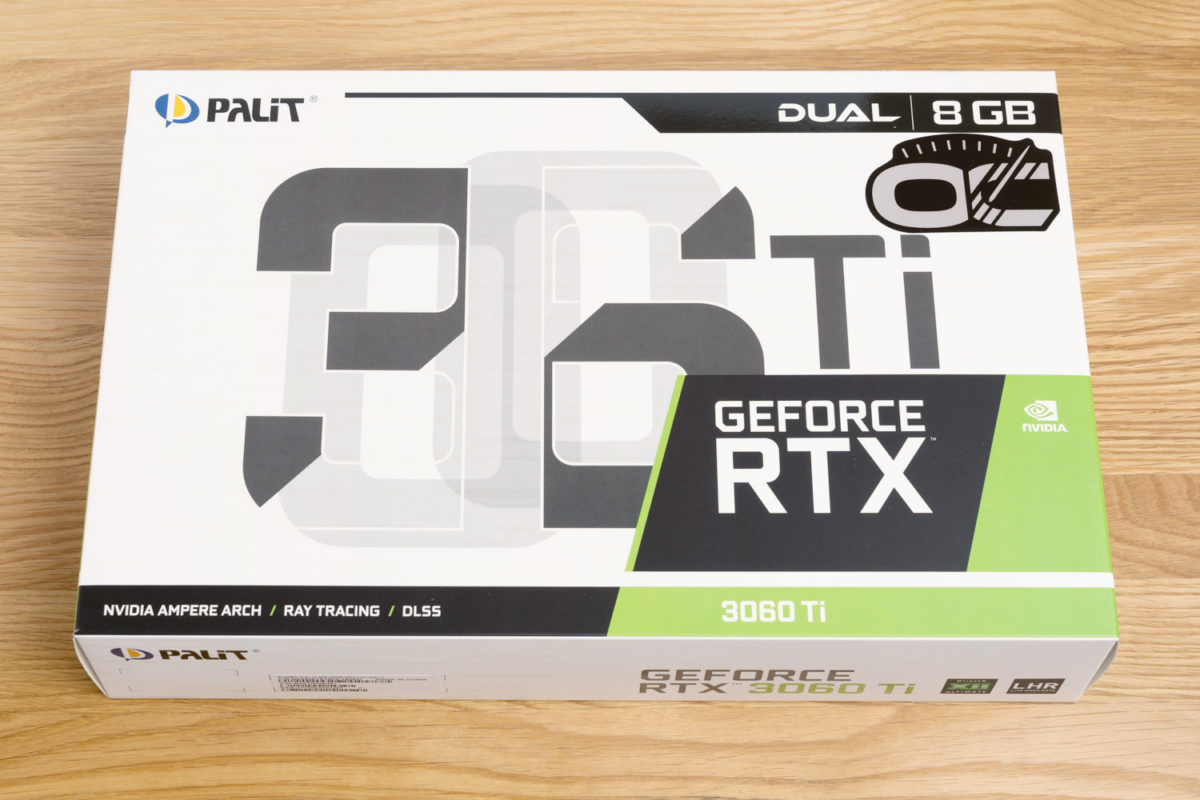 RTX 3060 Tiのパッケージ